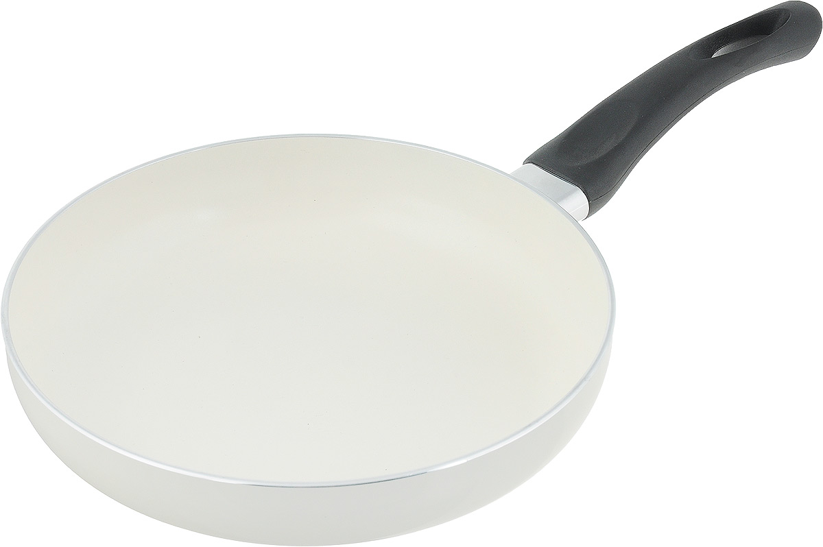 Сковорода NaturePan Еco-Line, с керамическим антипригарным покрытием. Диаметр 22 смEP22Сковорода NaturePan Еco-Line выполнена из алюминия и имеет современное керамическое антипригарное покрытие. Внешняя термостойкая эмаль обеспечивает легкую чистку. Эргономичная пластиковая ручка, не нагревается, не скользит в руке и приятна на ощупь. Подходит для керамических, электрических, газовых плит, галогеновых конфорок. Разрешена ручная мойка. Диаметр: 22 см, Высота стенки: 4 см,Длина ручки: 17 см.