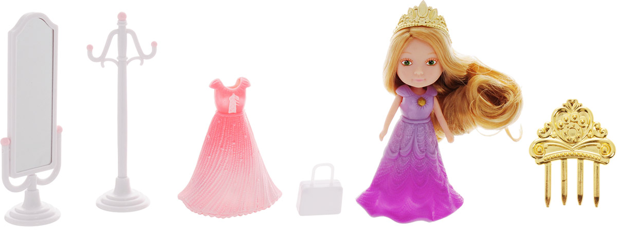 Veld-Co Игровой набор с мини-куклой My Lovely Princess цвет одежды сиреневый, розовый набор для игры с песком veld co самосвал с формочками в ассортименте