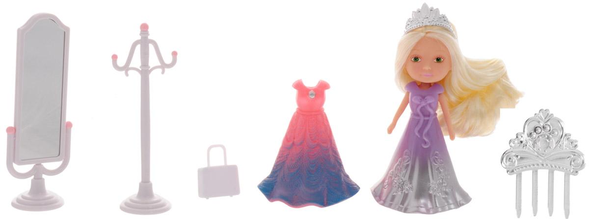 Veld-Co Игровой набор с мини-куклой My Lovely Princess цвет одежды сиреневый, розовый, голубой набор для игры с песком veld co самосвал с формочками в ассортименте