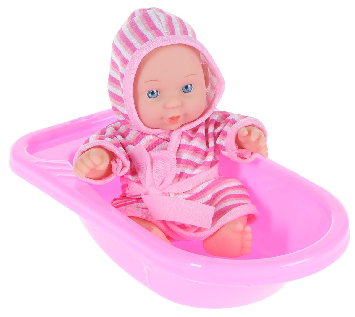 Карапуз Игровой набор с куклой Пупс в ванночке цвет розовый bambolina игровой набор с куклой пупс в ванночке
