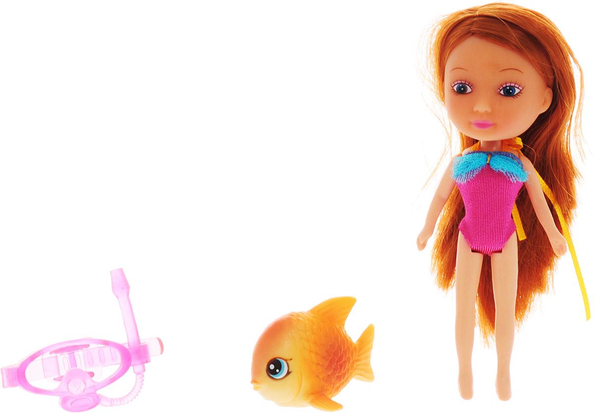 Veld-Co Мини-кукла Mona с рыбой veld co мини кукла mona с черепахой