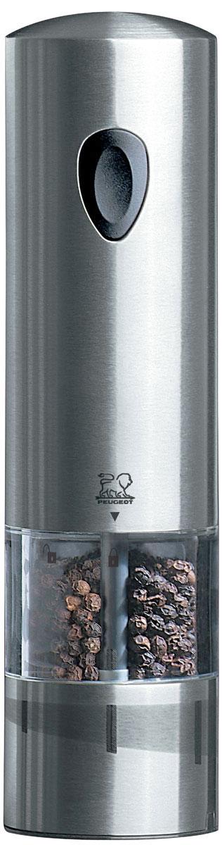 Мельница для перца Peugeot Elis rechargeable, электрическая, высота 20 см23225Мельница для перца Peugeot обладает одновременно современным и винтажным дизайном. Она выделяется внешним обликом из ряда электрических мельниц гармоничным сочетанием стекла и металла. Эргономичная форма будет радовать поваров, которые могут пользоваться ей, держа в одной руке во время приготовления пищи. Прозрачные стенки позволяют контролировать количество специй внутри. Высота: 20 см.