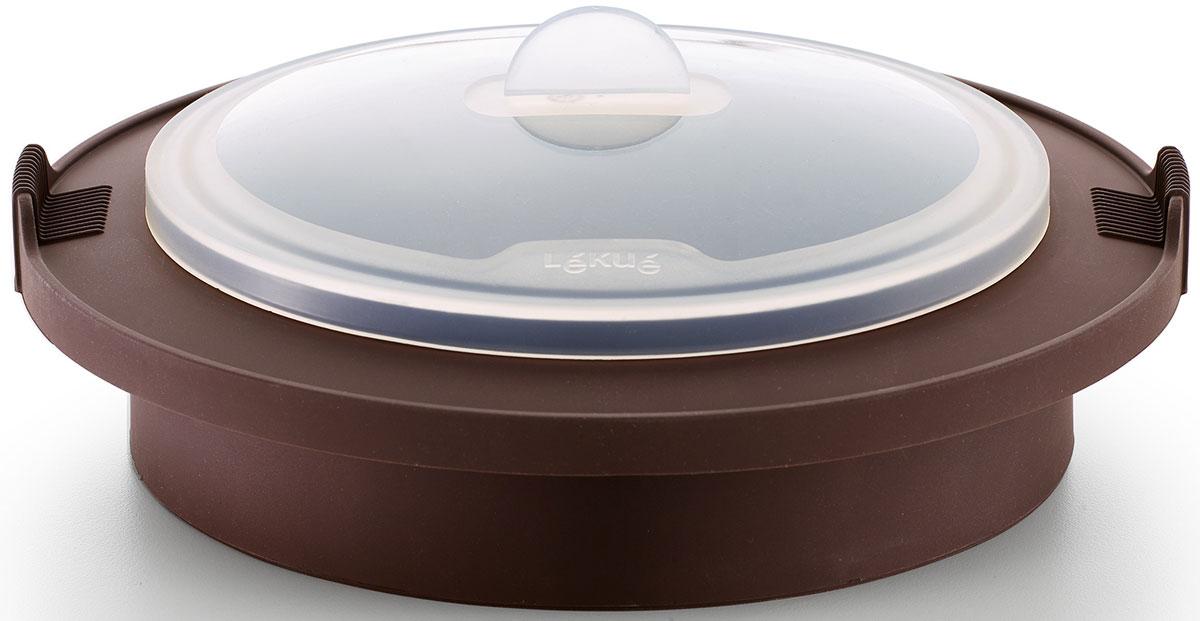 Пароварка для булочек Lekue, силиконовая, цвет: коричневый. 3400704M10M017