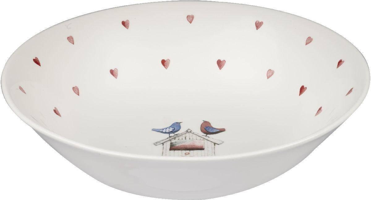 Салатник Churchill, диаметр 24 см. ACLB00071ACLB00071Салатник Churchill изготовлен из высококачественного фарфора.Коллекция Птички - это уникальное сочетание живой природы и прекрасные воспоминания из детства. Легкий и простой дизайн с пастельными красками идеально подойдет для любой кухни.