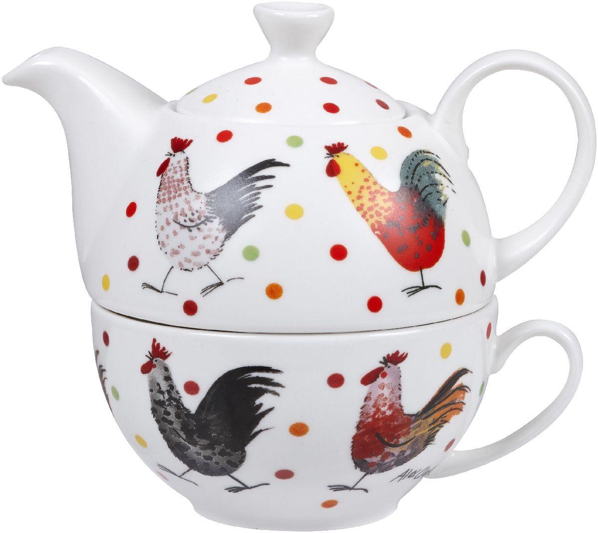 Набор чайный Churchill Петухи, 2 предмета. ACRS00491 dorothy s нome плейсмат набор 4шт принт петухи пвх