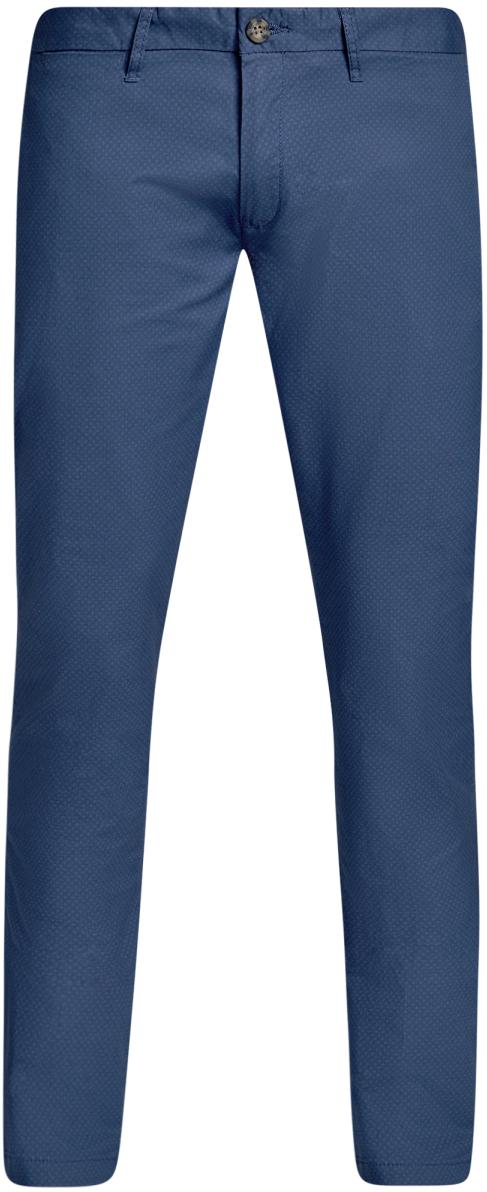 Брюки мужские oodji Lab, цвет: синий, темно-синий. 2L150100M/46645N/7579G. Размер 36-182 (44-182)2L150100M/46645N/7579GМужские брюки oodji Lab выполнены из высококачественного материала. Модель-чинос стандартной посадки застегивается на пуговицу в поясе и ширинку на застежке-молнии. Пояс имеет шлевки для ремня. Спереди брюки дополнены втачными карманами, сзади - прорезными на пуговицах.