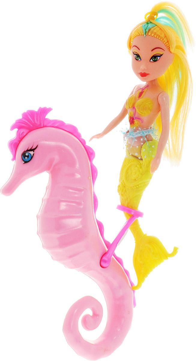 Veld-Co Игровой набор с мини-куклой Русалка и морской конек цвет желтый розовый игровые наборы veld co игровой набор военная база 1 64