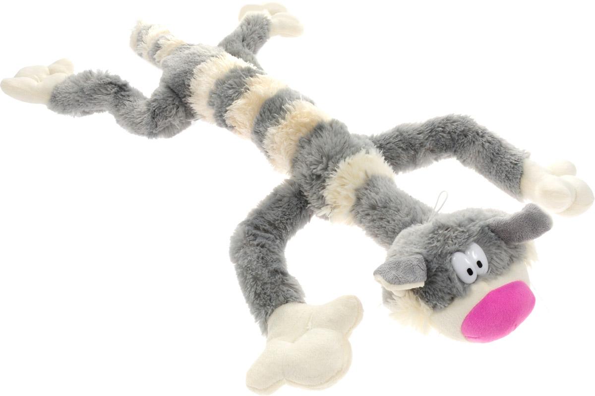 Magic Bear Toys Мягкая игрушка Кот полосатый цвет серый белый 75 см
