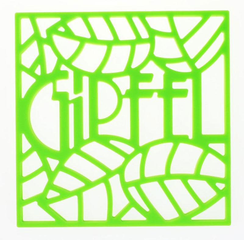 Подставка под горячее Gipfel Glum, цвет: зеленый, 17 х 17 х 0,8 см0215Подставка под горячее Gipfel Glum - незаменимый помощник на современной кухне.Силиконовый квадрат 17 x 17 см, толщиной 8 мм надежно защищает поверхностьмебели от воздействия высокой температуры. Подставка под горячее обеспечивает устойчивость кастрюль, сковородок и прочей утвари на столе:сквозные прорези на изделии препятствуют скольжению. Прорези складываютсяв красивый узор из листиков и букв, образующих слово Gipfel. Яркий цвет изделиязаряжает хорошим настроением в самую хмурую погоду в любое время суток, асвойства силикона помогают подставке всегда сохранять чистоту.