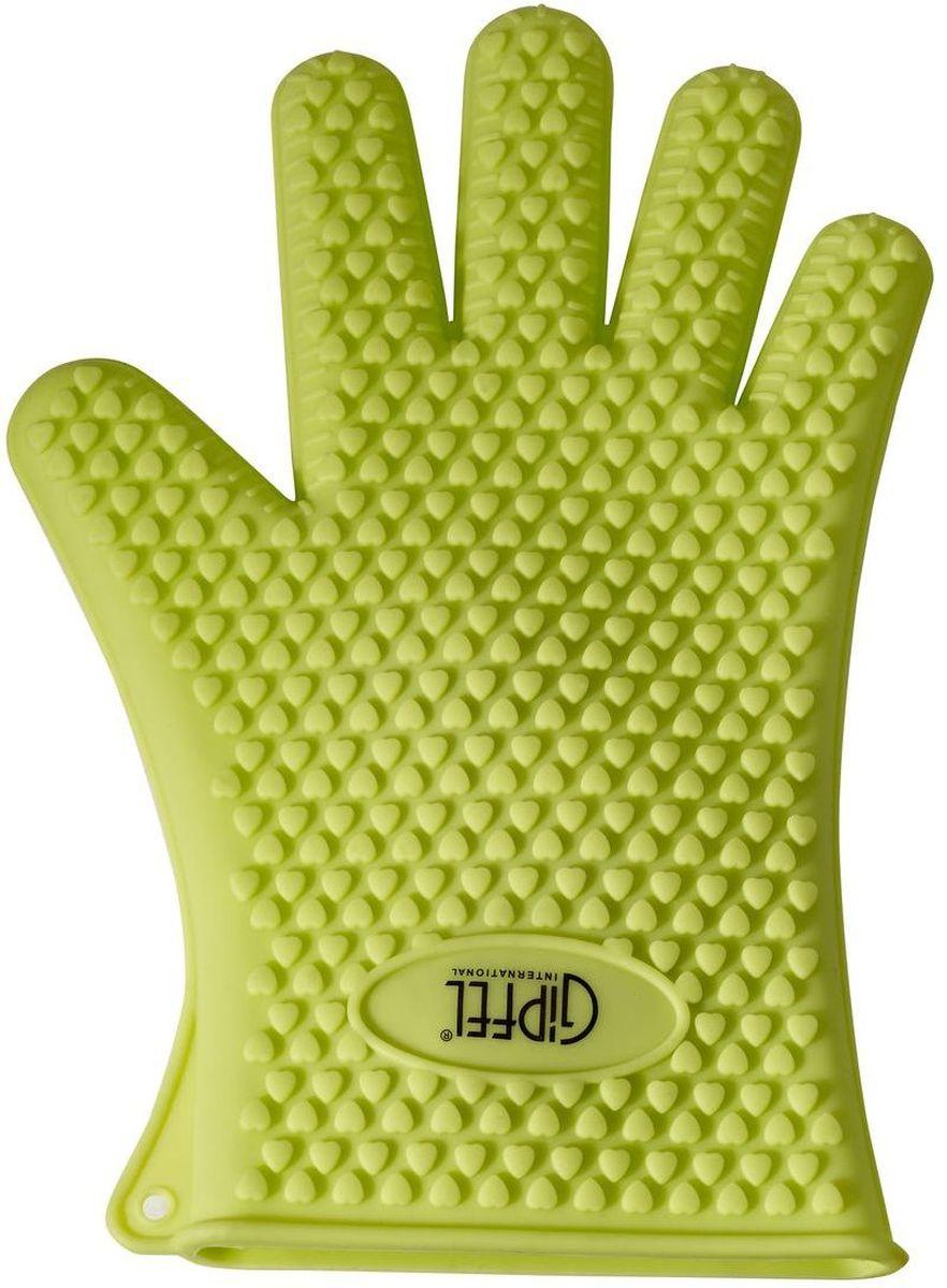 """Перчатка силиконовая Gipfel """"Riam"""" изготовлена из качественного, экологически чистого материала. Очень приятная на ощупь, невероятно гибкая. Удобно и прочно сидит на руке. С помощью такой прихватки ваши руки будут защищены от ожогов, когда вы будете ставить в печь или доставать из нее выпечку."""