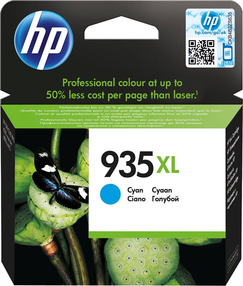 HP C2P24AE (№ 935XL), Cyan картридж для Officejet Pro 6830 e-All-in-One(E3E02A)/HP Officejet Pro 6230 ePrinter E3E03A) картридж t2 ic h046 951xl для hp officejet pro 8100 eprinter 8600 e all in one 8600 plus e all in one 251dw 276dw blue