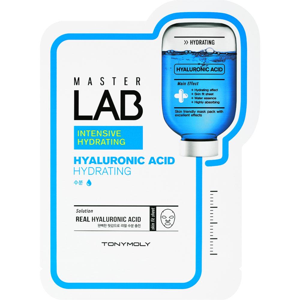 TonyMoly Тканевая маска Master Lab Hyaluronic Acid Mask, 19 гр бустеры тестостерона geneticlab тестостерон d aspartic acid daa 100 гр
