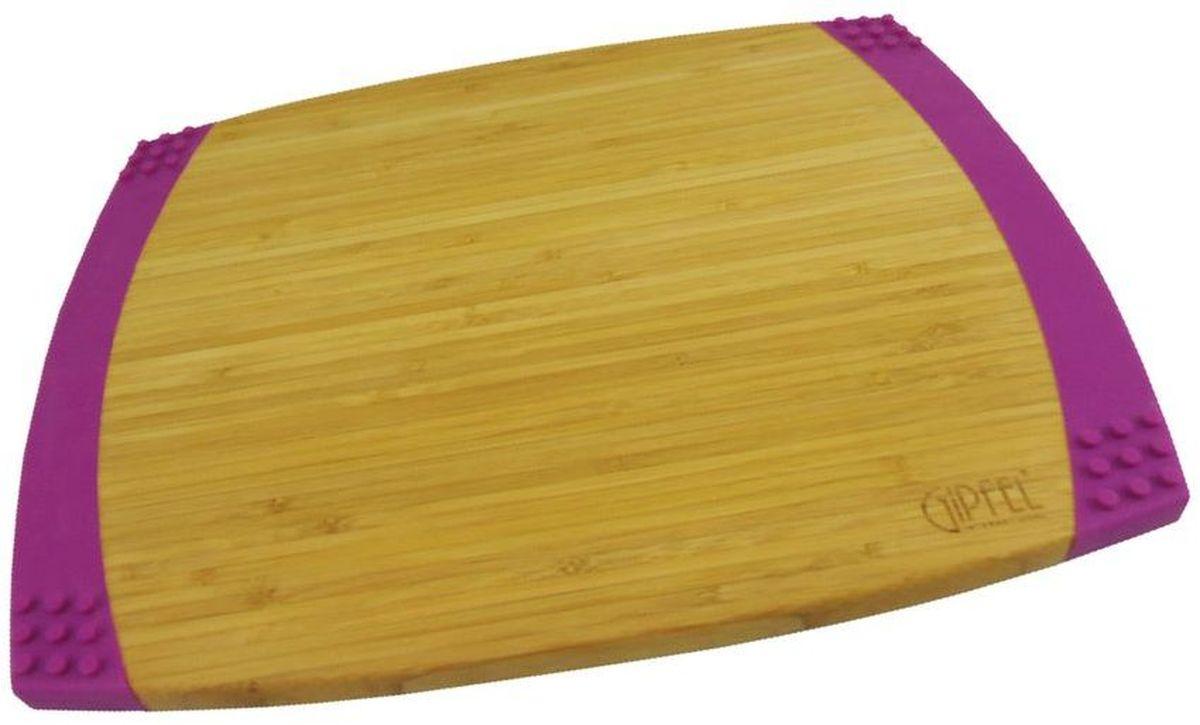 Доска разделочная Gipfel Bamboo, 35,6 х 27,9 х 2,1 см3117Прямоугольная разделочная доска Gipfel Bamboo изготовлена из бамбука -натурального, экологически чистого материала с антибактериальнымисвойствами. Доски из бамбука обладают высокой плотностью структурыдревесины и устойчивы к механическим воздействиям.Изделие дополнено силиконом, что предотвращает скольжение. Подходит длялюбых видов ножей,включая керамические.