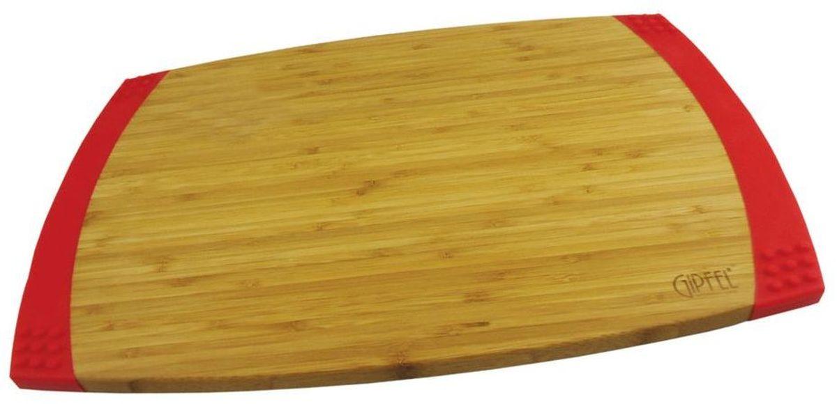 Доска разделочная Gipfel Bamboo, 45,7 х 30,5 х 2,1 см3118Прямоугольная разделочная доска Gipfel Bamboo изготовлена из бамбука -натурального, экологически чистого материала с антибактериальнымисвойствами. Доски из бамбука обладают высокой плотностью структурыдревесины и устойчивы к механическим воздействиям.Изделие дополнено силиконом, что предотвращает скольжение. Подходит для любых видов ножей,включая керамические.