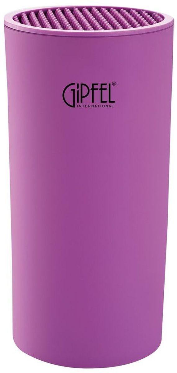Подставка для ножей Gipfel, цвет: фиолетовый, 11 х 11 х 22 см подставка для ножей nadoba esta деревянная