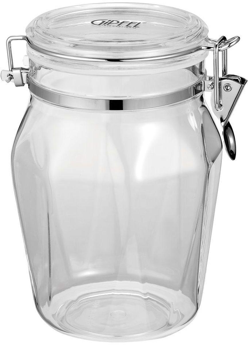 Банка для сыпучих продуктов Gipfel Kron, 1,25 л. 37213721Банка для сыпучих продуктов Gipfel Kron выполнена из безопасного и прочного акрила. Крышка снабжена специальным металлическим зажимом для максимальной герметичности и сохранения свежести. В такой банке удобно хранить различные сыпучие продукты, например, крупы, сахар, кофе, чай и другое. Прозрачные стенки позволяют видеть количество содержимого. Такая банка будет эстетично смотреться в интерьере любой кухни. Диаметр: 13 см. Высота: 18,5 см.