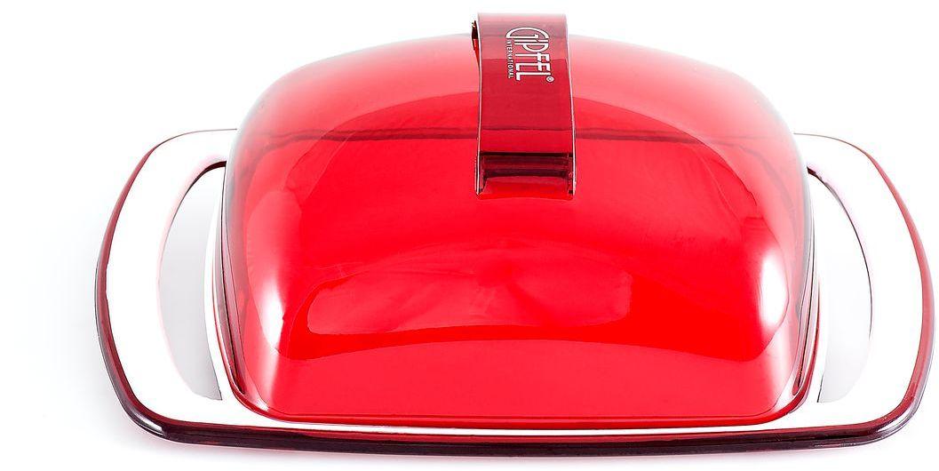Масленка Gipfel Arco, цвет: красный, белый, 18,5 х 11,8 х 6,7 см3747Масленка Gipfel Arco, выполненная из высококачественного пластика, предназначена для красивой сервировки и хранения масла. Она состоит из подноса и крышки. Масло в ней долго остается свежим, а при хранении в холодильнике не впитывает посторонние запахи. Масленка идеально подойдет для сервировки стола и станет отличным подарком к любому празднику. Посуда Gipfel изготовлена только из качественных, экологически чистых материалов. Также уделяется особое внимание дизайну продукции, способному удовлетворять вкусы даже самых взыскательных покупателей.
