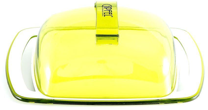 Масленка Gipfel Arco, цвет: зеленый, белый, 18,5 х 11,8 х 6,7 см3749Масленка Gipfel Arco, выполненная из высококачественного пластика, предназначена для красивой сервировки и хранения масла. Она состоит из подноса и крышки. Масло в ней долго остается свежим, а при хранении в холодильнике не впитывает посторонние запахи. Масленка идеально подойдет для сервировки стола и станет отличным подарком к любому празднику. Посуда Gipfel изготовлена только из качественных, экологически чистых материалов. Также уделяется особое внимание дизайну продукции, способному удовлетворять вкусы даже самых