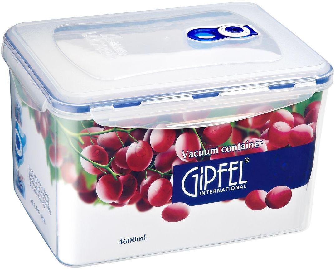 Контейнер вакуумный Gipfel, 3,9 л4806Вакуумный контейнер Gipfel, изготовленный из высококачественного пищевого пластика, предназначен для сохранения свежести, аромата, цвета и питательных веществ любых продуктов питания. Контейнер может использоваться для маринования и для хранения продуктов в холодильнике и морозилке. Хранение продуктов в вакуумных контейнерах не заменяет обычных способов хранения, а дополняет их, ведь таким образом срок хранения увеличивается в 3-4 раза. Вакуум, образованный путем удаления воздуха из посуды, приостанавливает размножение бактерий и окисление продуктов. Так, сроки хранения в холодильнике (при температуре от 3°С до 5°С) возрастают (приблизительно): для мяса - с 3 до 10 дней, для сыра - с 12 до 25 дней, для овощей - с 4 до 8 дней, для хлеба - с 2 до 10 дней, для пирожных - с 4 до 10 дней.
