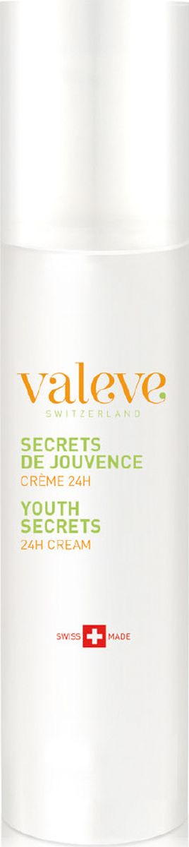 Valeve Крем 24-часового действия «Секреты Молодости» Youth Secrets 24h Face cream 50 мл9005_0504Роскошный антивозрастной крем 24-часового действия с экстрактами абрикоса и эдельвейса. Питает и оживляет кожу, насыщает влагой, защищает от вредных воздействий окружающей среды, укрепляя ее естественный защитный барьер. Восстанавливает жизненно важные функции кожи и ее оптимальное благополучие.