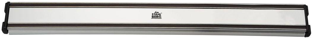 Держатель магнитный для ножей Stahlberg, длина 41 см5648-SПосуда STAHLBERG изготовлена только из качественных, экологически чистых материалов. Также уделяется особое внимание дизайну продукции, способному удовлетворять вкусы даже самых взыскательных покупателей. Сталь 8/10, из которой изготавливается посуда и аксессуары STAHLBERG, является уникальной. Она отличается высокими эксплуатационными характеристиками и крайне устойчива к физическим воздействиям. Сложно найти более подходящий для создания качественной кухонной посуды материал. Отличительной чертой металлической посуды, выполненной из подобной стали, является характерный сероватый оттенок поверхности и особый блеск. Это позволяет приготовить более здоровую пищу.