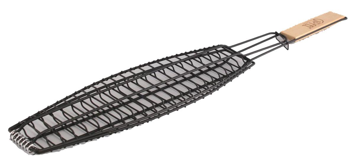 Решетка-гриль Gipfel, с антипригарным покрытием, 73 х 13 х 2,5 см5671Посуда Gipfel изготовлена только из качественных, экологически чистых материалов. Также уделяется особое внимание дизайну продукции, способному удовлетворять вкусы даже самых взыскательных покупателей. Сталь 8/10, из которой изготавливается посуда и аксессуары Gipfel, является уникальной. Она отличается высокими эксплуатационными характеристиками и крайне устойчива к физическим воздействиям. Сложно найти более подходящий для создания качественной кухонной посуды материал. Отличительной чертой металлической посуды, выполненной из подобной стали, является характерный сероватый оттенок поверхности и особый блеск. Это позволяет приготовить более здоровую пищу.