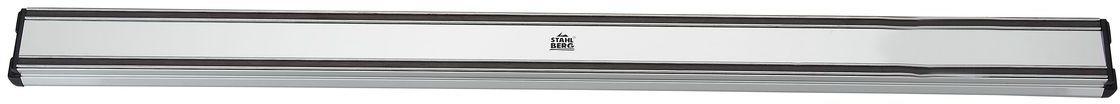Держатель магнитный для ножей Stahlberg, длина 61 см5678-SПосуда STAHLBERG изготовлена только из качественных, экологически чистых материалов. Также уделяется особое внимание дизайну продукции, способному удовлетворять вкусы даже самых взыскательных покупателей. Сталь 8/10, из которой изготавливается посуда и аксессуары STAHLBERG, является уникальной. Она отличается высокими эксплуатационными характеристиками и крайне устойчива к физическим воздействиям. Сложно найти более подходящий для создания качественной кухонной посуды материал. Отличительной чертой металлической посуды, выполненной из подобной стали, является характерный сероватый оттенок поверхности и особый блеск. Это позволяет приготовить более здоровую пищу.