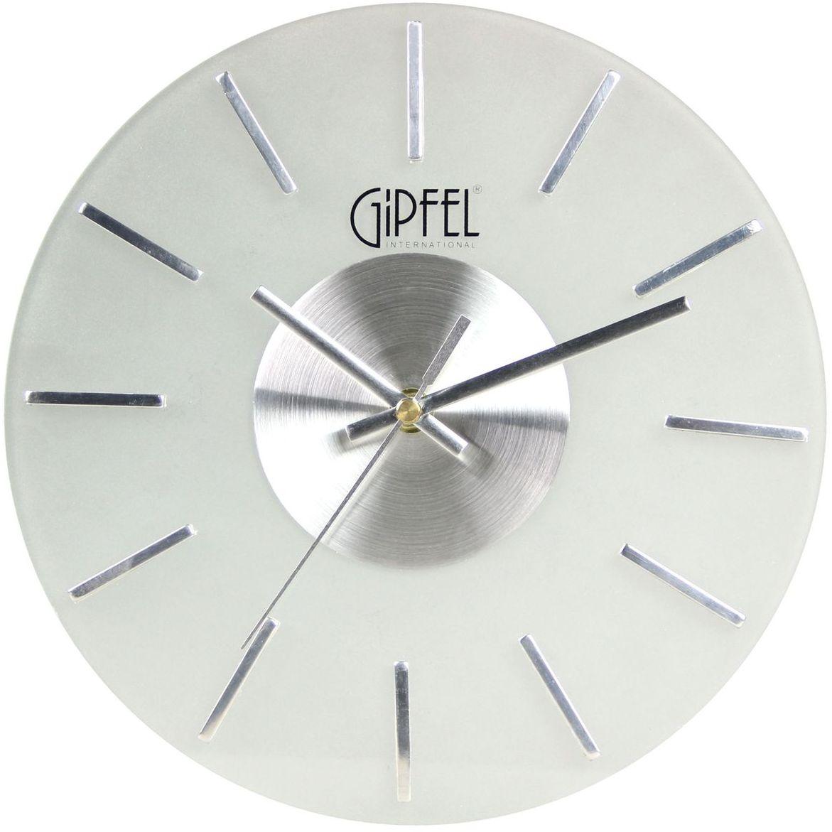 Часы настенные Gipfel Sonata5681Часы настенные Gipfel Sonata - это элегантный и неотъемлемый элемент дизайна любого помещения. Корпус кварцевых часов выполнен изстекла и металла, который гарантирует не только их легкость, но и практичность, легкий монтаж и уход. Размеры: 25,5 см ? 25,5 см ? 3,5 см