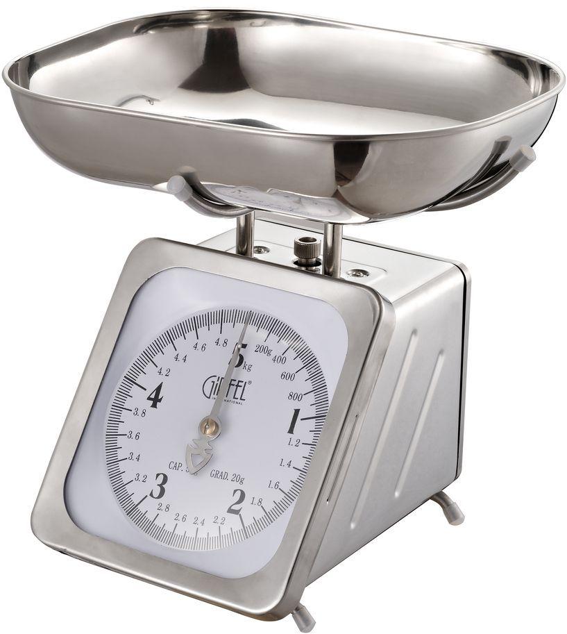 Весы кухонные Gipfel, механические, 5 кг5689Механические кухонные весы Gipfel, выполненные из нержавеющей стали, которая отличается высокими эксплуатационными характеристиками и крайне устойчива к физическим воздействиям.На шкале присутствуют единицы измерения в граммах и килограммах. В комплект входит чаша. Такие весы придутся по душе каждой хозяйке и станут незаменимым аксессуаром на кухне.