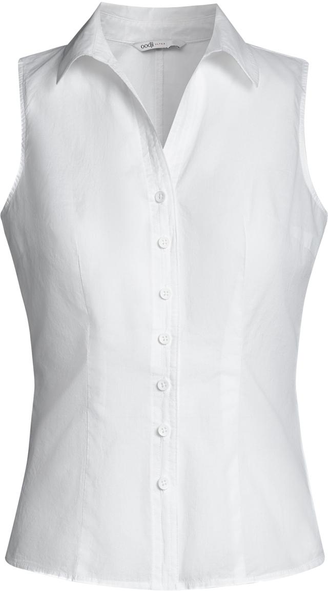 Рубашка женская oodji Ultra, цвет: белый. 11405063-4B/45510/1000N. Размер 36-170 (42-170)11405063-4B/45510/1000NРубашка женская oodji Ultra выполнена из высококачественного материала. Модель с отложным воротником застегивается на пуговицы.