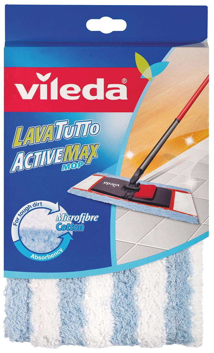 Насадка сменная Vileda Active Max для швабры салфетка универсальная vileda микрофибра цвет розовый 32 х 32 см