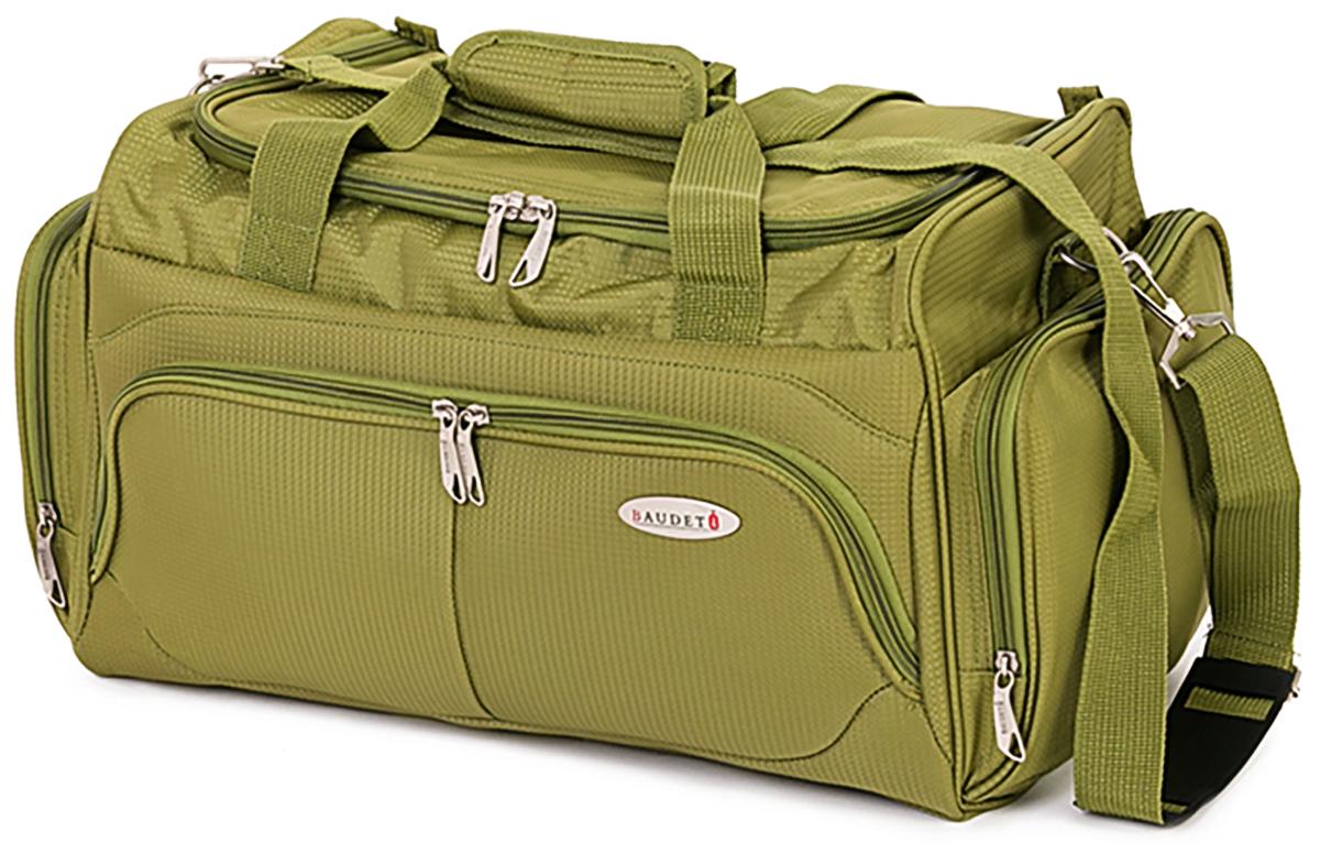 Сумка дорожная Baudet, цвет: оливковый, 25 х 27 х 44 см, 30 лBA0505901Стильная дорожная сумка Baudet выполнена из плотноговысококачественного полиэстера. Изделие оформлено в ярком дизайне. Сумка имеет одно вместительное отделение, закрывающееся на застежку- молнию.Сумкаоснащена двумя удобными ручками, а также внутри и снаружи имеются карманы,закрывающие намолнии. В комплекте есть плечевой ремень регулируемой длины. Такая сумка будет незаменима в поездке или для похода в спортзал. Такжеизделие можно использовать как переноску для животных.