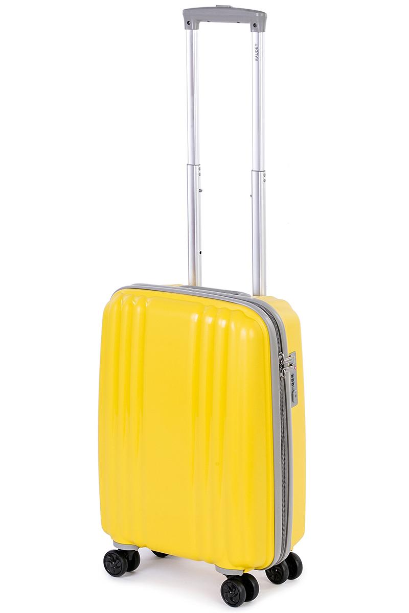 Чемодан Baudet, цвет: желтый, 48 х 35 х 22 см, 37 лBHL0708803-48Чемодан Baudet надежный и практичныйв путешествии. Выполнен из прочного и ударостойкого полипропилена, материал внутренней отделки - полиэстеровая ткань серого цвета.Чемодан содержит продуманную внутреннюю организацию. Имеется одно большое отделение, которое закрывается по периметру на застежку-молнию. Внутри содержатся два больших отдела для хранения одежды. Для легкой и удобной перевозки чемодан оснащен четырьмяколесами, вращающимися на 360 градусов. Телескопическая ручка выдвигается нажатием на кнопку и фиксируется в двух положениях. Сверху предусмотрена ручка для поднятия чемодана. Гарантия на чемодан 2 года. Чемодан оснащен кодовым замком TSA, который исключает возможность взлома. Отверстие для ключав кодовом замке предназначено для работников таможни (открытие багажа для досмотра без присутствия хозяина). Ключ находится только у таможни и в комплекте с чемоданом не идет.