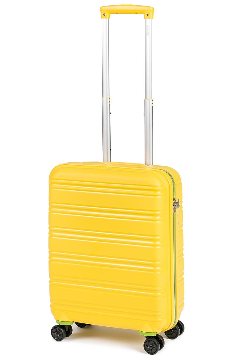 Чемодан Baudet, цвет: желтый, 49 х 40 х 21 см, 41 лBHL0708808-49Чемодан Baudet надежный и практичныйв путешествии. Выполнен из прочного и ударостойкого полипропилена, материал внутренней отделки - полиэстеровая ткань серого цвета.Чемодан содержит продуманную внутреннюю организацию. Имеется одно большое отделение, которое закрывается по периметру на застежку-молнию. Внутри содержатся два больших отдела для хранения одежды. Для легкой и удобной перевозки чемодан оснащен четырьмяколесами, вращающимися на 360 градусов. Телескопическая ручка выдвигается нажатием на кнопку и фиксируется в двух положениях. Сверху предусмотрена ручка для поднятия чемодана. Гарантия на чемодан 2 года. Чемодан оснащен кодовым замком TSA, который исключает возможность взлома. Отверстие для ключав кодовом замке предназначено для работников таможни (открытие багажа для досмотра без присутствия хозяина). Ключ находится только у таможни и в комплекте с чемоданом не идет.Как выбрать чемодан. Статья OZON Гид