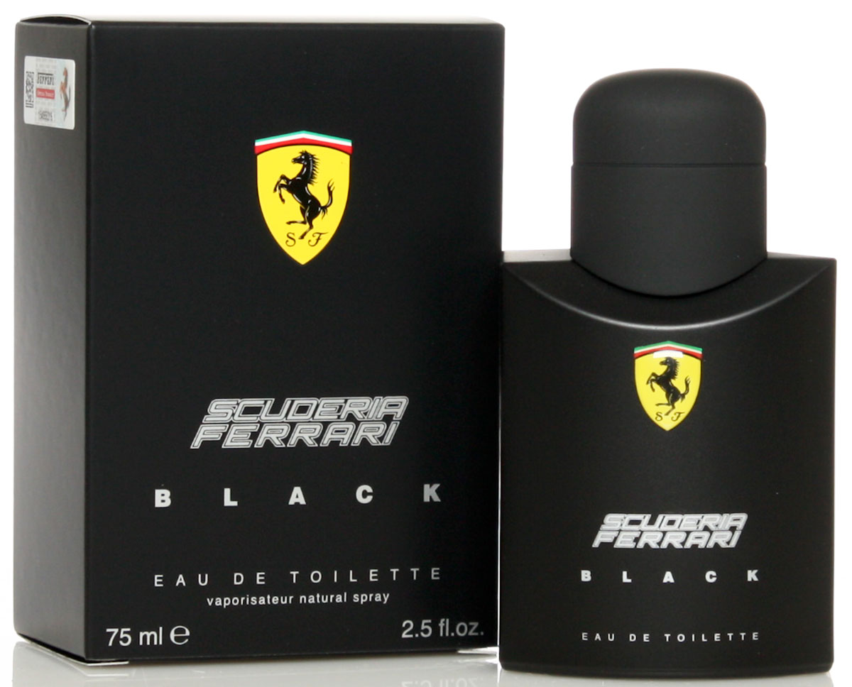 Ferrari Туалетная вода BLACK мужская, 75 мл67000097Scuderia Ferrari Black Ferrari - это аромат для мужчин, принадлежит к группе ароматов фужерные. Scuderia Ferrari Black выпущен в 2013. Верхние ноты: Цитрусы, лайм, Бергамот, Зеленое яблоко и слива; ноты сердца: кардамон, Корица, роза и Жасмин; ноты базы: Белый кедр, Амбра, Мускус и Ваниль.Краткий гид по парфюмерии: виды, ноты, ароматы, советы по выбору. Статья OZON Гид
