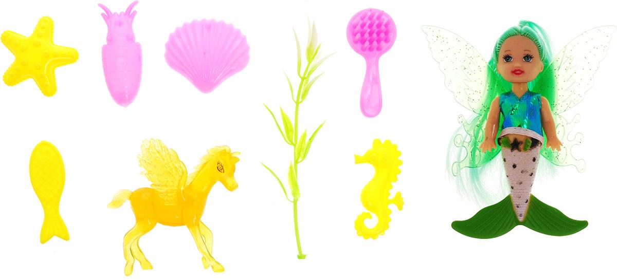 Veld-Co Игровой набор с мини-куклой Butterfly Faerie цвет волос зеленый veld co игровой набор с куклой торговый центр