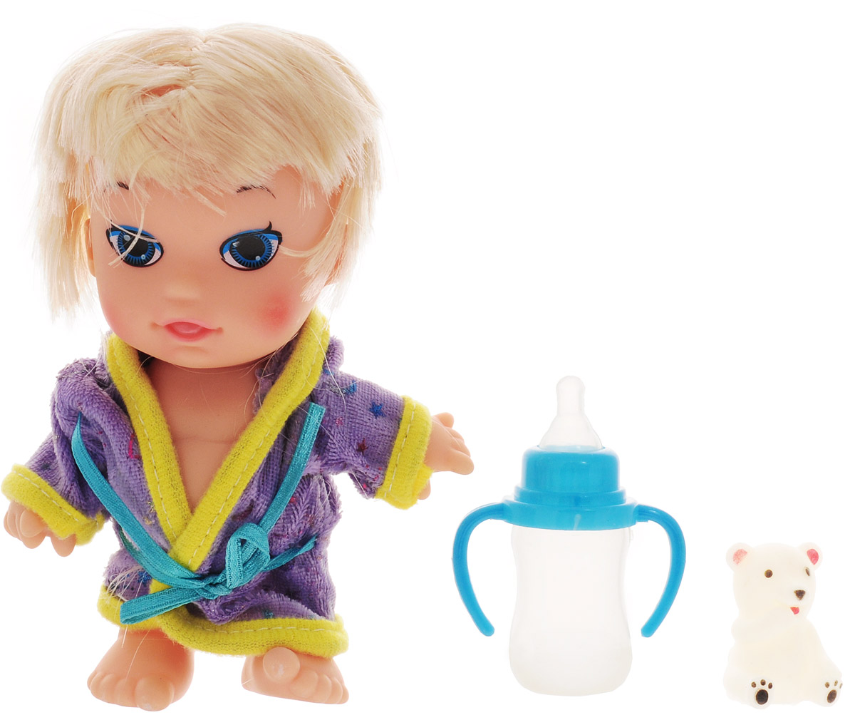 Veld-Co Пупс Малышка цвет халата сиреневый veld co игровой набор с куклой торговый центр