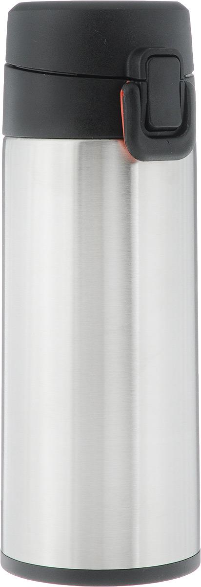 Термос Tescoma Constant Mocca, с замком, цвет: стальной, черный, 0,3 л318530Спортивный термос Tescoma Constant Mocca сохранит напитки горячими или холодными. Двойная колба из нержавеющей стали сохраняет и поддерживает первоначальную температуру напитка, поэтому вы сможете насладиться теплым чаем или любимым прохладительным напитком. Термос оснащен крышкой с кнопкой и замком, предохраняющим от преднамеренного открытия во время занятий спортом или путешествий. Объем термоса: 0,3 л.Диаметр термоса (по верхнему краю): 5 см.Высота термоса (с учетом крышки): 19,5 см.