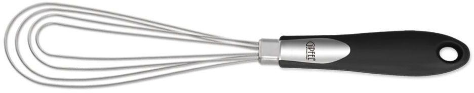 Венчик Gipfel Orbit6587Венчик Gipfel Orbit изготовлен из высококачесвтенной нержавеющей стали и обладает эксклюзивным дизайном. Удобная ручка из прочногопластика не позволит выскользнуть венчику из вашей руки и сделает приятным процесс приготовления любого блюда. На ручке имеетсянебольшое отверстие, с помощью которого изделие можно подвесить в любом удобном для вас месте.Практичный и удобный венчик займет достойное место среди аксессуаров на вашей кухне. Можно мыть в посудомоечной машине.