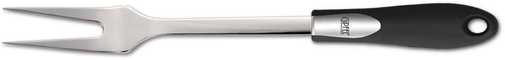 Вилка для мяса Gipfel Orbit6588Вилка для мяса Gipfel Orbit выполнена из уникальной нержавеющей стали 18/10. Материал отличается высокими эксплуатационными характеристиками и крайне устойчив к физическим воздействиям. Отличительной чертой металлической посуды, выполненной из подобной стали, является характерный сероватый оттенок поверхности и особый блеск.Рукоятка удобной формы изготовлена из пластика. Отверстие позволяет подвесить вилку в любое удобное для вас место. Допускается мытье в посудомоечной машине.