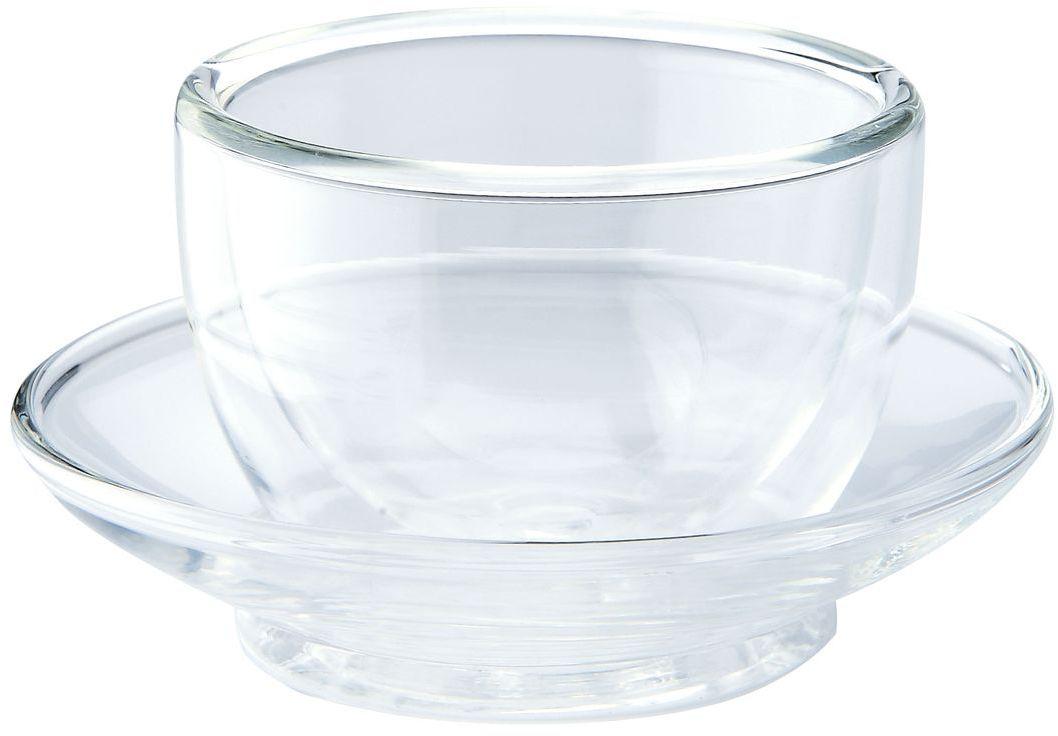 Чайная пара Gipfel, 75 мл7011Чашка с блюдцем Gipfel изготовлены из двойного боросиликатного стекла. Такой набор украсит интерьер любой кухни.Можно мыть в посудомоечной машине.Объем: 0.75 л.