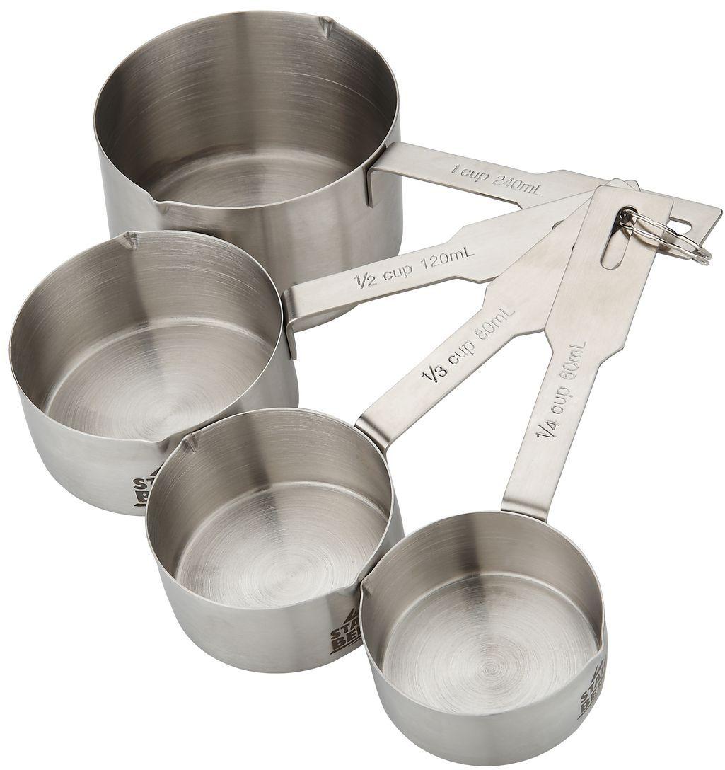 Набор мерных ложек Stahlberg. 9323-S9323-SНабор мерных ложек Stahlberg состоит из четырех ложек разного размера. Изделия выполнены из нержавеющей стали, которая отличается высокими эксплуатационными характеристиками и крайне устойчива к физическим воздействиям. Такой набор займет достойное место среди аксессуаров на вашей кухне.Мерная ложка: 60 мл Мерная ложка: 78,5 мл Мерная ложка: 125 мл Мерная ложка: 236 мл