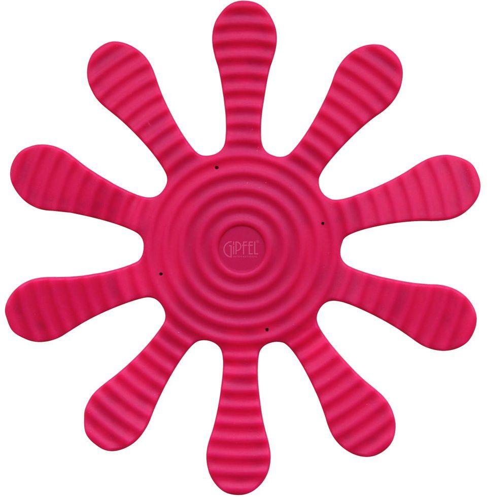 Подставка под горячее Gipfel, цвет: розовый, 29 х 29 см9371Посуда Gipfel изготовлена только из качественных, экологически чистых материалов. Также уделяется особое внимание дизайну продукции, способному удовлетворять вкусы даже самых взыскательных покупателей. Сталь 8/10, из которой изготавливается посуда и аксессуары Gipfel, является уникальной. Она отличается высокими эксплуатационными характеристиками и крайне устойчива к физическим воздействиям. Сложно найти более подходящий для создания качественной кухонной посуды материал. Отличительной чертой металлической посуды, выполненной из подобной стали, является характерный сероватый оттенок поверхности и особый блеск. Это позволяет приготовить более здоровую пищу.