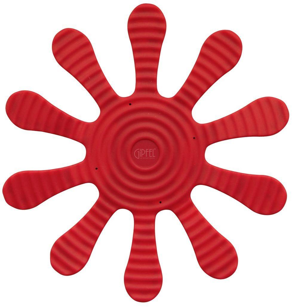 Подставка под горячее Gipfel, цвет: красный, 29 х 29 см9373Посуда Gipfel изготовлена только из качественных, экологически чистых материалов. Также уделяется особое внимание дизайну продукции, способному удовлетворять вкусы даже самых взыскательных покупателей. Сталь 8/10, из которой изготавливается посуда и аксессуары Gipfel, является уникальной. Она отличается высокими эксплуатационными характеристиками и крайне устойчива к физическим воздействиям. Сложно найти более подходящий для создания качественной кухонной посуды материал. Отличительной чертой металлической посуды, выполненной из подобной стали, является характерный сероватый оттенок поверхности и особый блеск. Это позволяет приготовить более здоровую пищу.