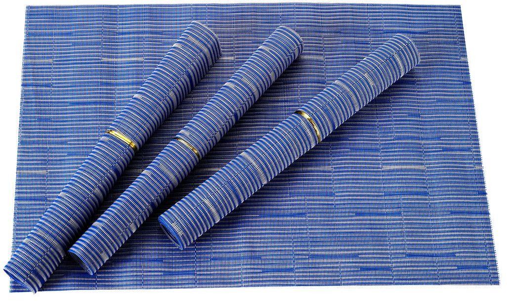 Набор салфеток для сервировки Gipfel Eden, цвет: синий, 45 х 30 см, 4 шт9964Gipfel Eden - это салфетки для сервировки стола. Изготовлены из прочного материала, который не впитывает жир, запахи, а также легко моется под проточной водой. Салфетки не только защитят поверхность стола, но и также помогут создать более теплую и уютную атмосферу. Салфетки двусторонние, поэтому их можно класть как вам больше нравится.