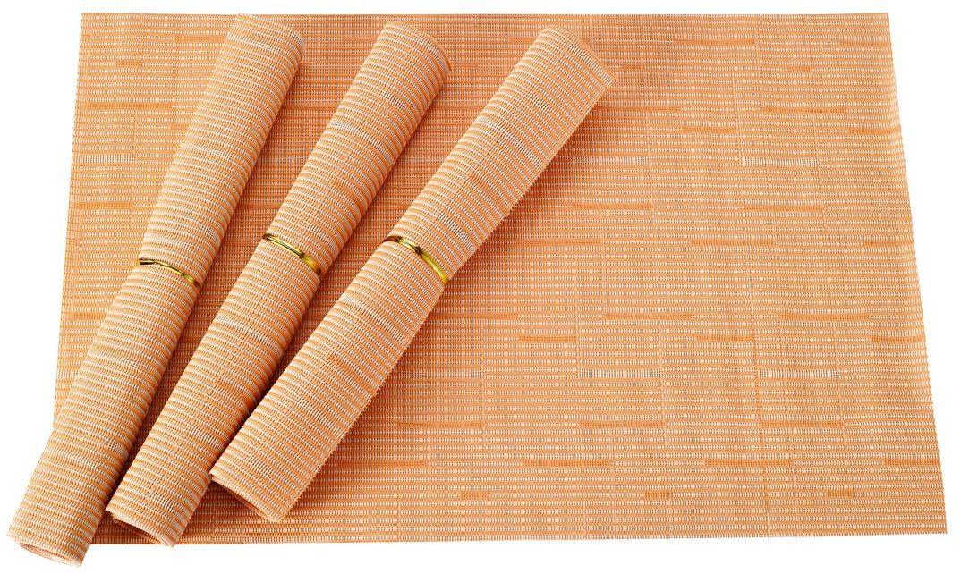 Набор салфеток для сервировки Gipfel Eden, цвет: желтый, 45 х 30 см, 4 шт9968Набор Gipfel Eden включает 4 салфетки для сервировки стола. Изделия выполнены из ПВХ и полиэстера. Это практичный материал, который не впитывает жир, запахи, а также легко моется под проточной водой. Салфетки приятно удивят вас своей прочностью, они могут годами оставаться все такими же яркими, крепкими и стильными. Эти салфетки гораздо надежнее обычной скатерти из текстиля. На них не остается следов от горячего, их легко мыть, а при необходимости вы всегда можете скрутить такую салфетку в компактный сверток и убрать в укромное место для хранения. Салфетки Gipfel Eden не только защитят поверхность стола, но и также помогут создать теплую и уютную атмосферу на кухне.
