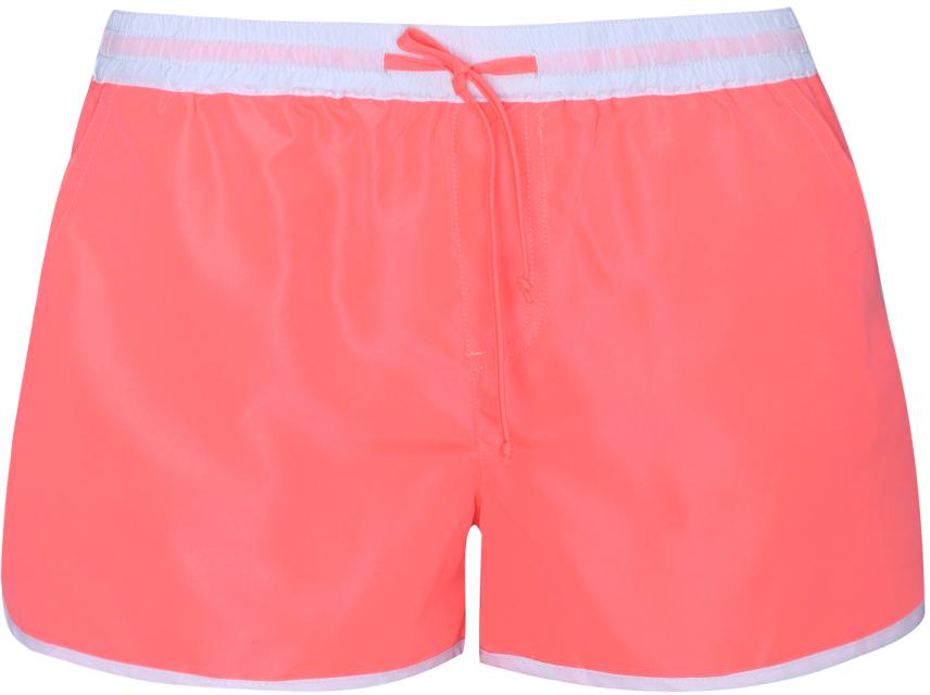 Шорты женские oodji Ultra, цвет: розовый. 57800027/16023/4100Y. Размер XS (42)57800027/16023/4100YЖенские пляжные шорты от oodji выполнены из высококачественного материала с контрастными элементами. Сзади имеются накладные карманы.