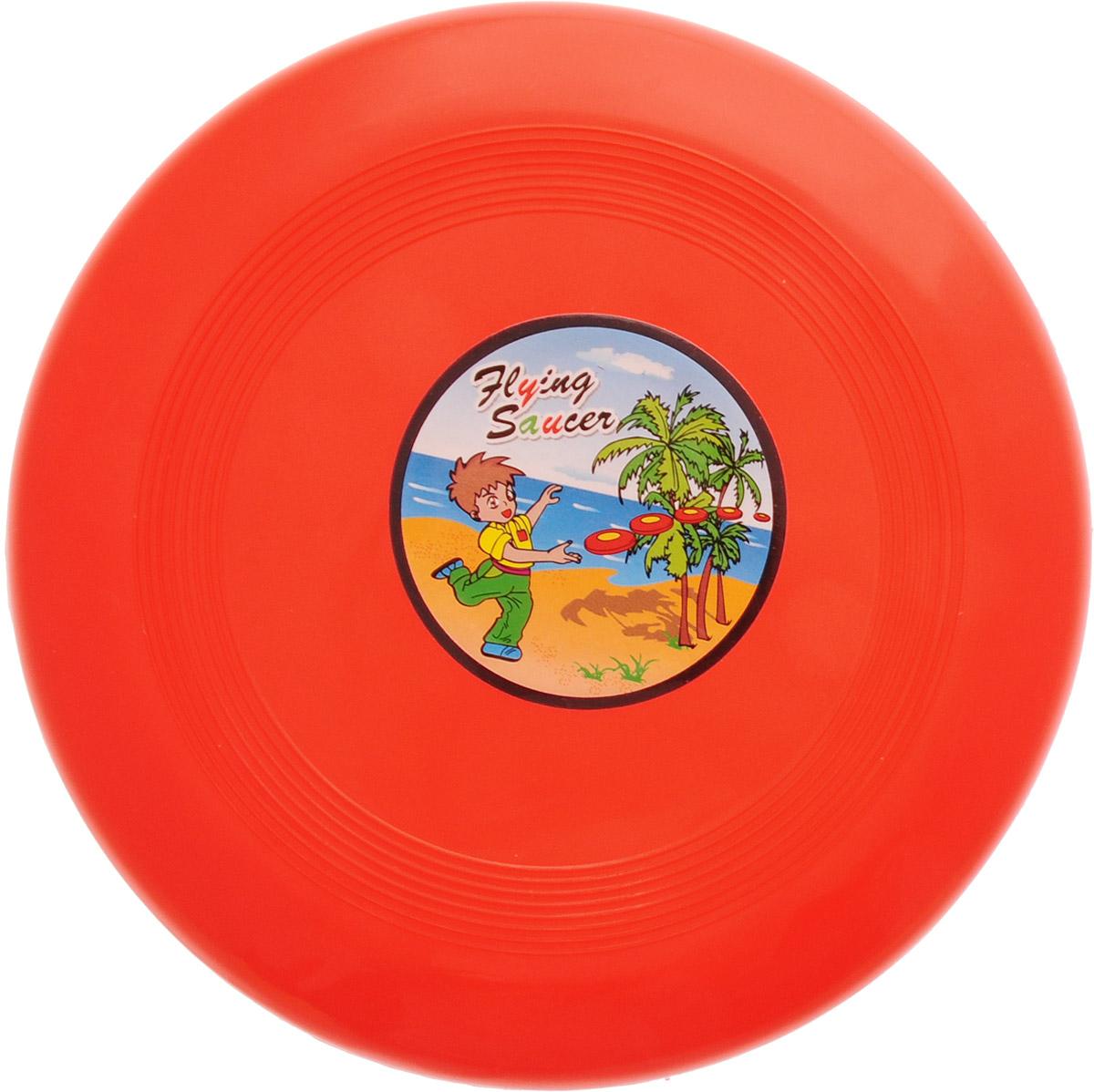 Veld-Co Летающая тарелка цвет красный диаметр 14 см набор для игры с песком veld co самосвал с формочками в ассортименте