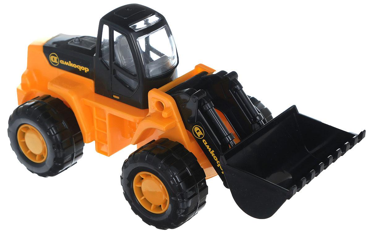 Полесье Трактор-погрузчик Умелец цвет черный оранжевый машина детская полесье полесье набор автомобиль трейлер трактор погрузчик
