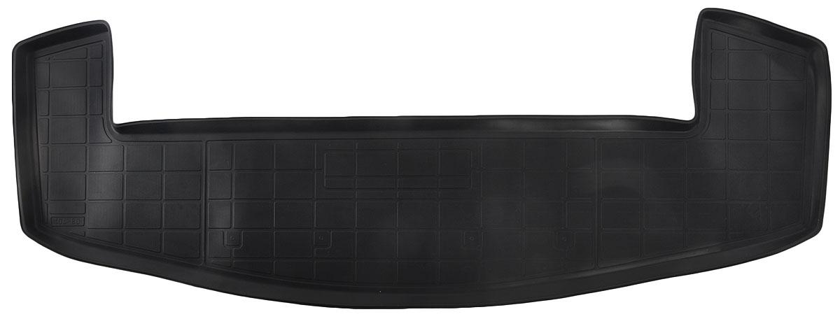 Коврик багажника Rival для Chevrolet Captiva (7 мест) 2014-, полиуретан11007004Коврик багажника Rival позволяет надежно защитить и сохранить от грязи багажный отсек вашего автомобиля на протяжении всего срока эксплуатации, полностью повторяют геометрию багажника.- Высокий борт специальной конструкции препятствует попаданию разлившейся жидкости и грязи на внутреннюю отделку.- Произведены из первичных материалов, в результате чего отсутствует неприятный запах в салоне автомобиля.- Рисунок обеспечивает противоскользящую поверхность, благодаря которой перевозимые предметы не перекатываются в багажном отделении, а остаются на своих местах.- Высокая эластичность, можно беспрепятственно эксплуатировать при температуре от -45 ?C до +45 ?C.- Изготовлены из высококачественного и экологичного материала, не подверженного воздействию кислот, щелочей и нефтепродуктов. Уважаемые клиенты!Обращаем ваше внимание,что коврик имеет формусоответствующую модели данного автомобиля. Фото служит для визуального восприятия товара.